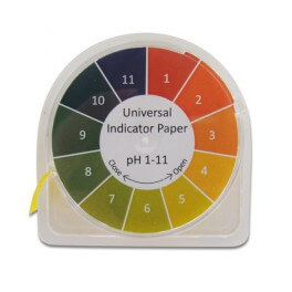 Rouleau de papier pH (1 à 11)