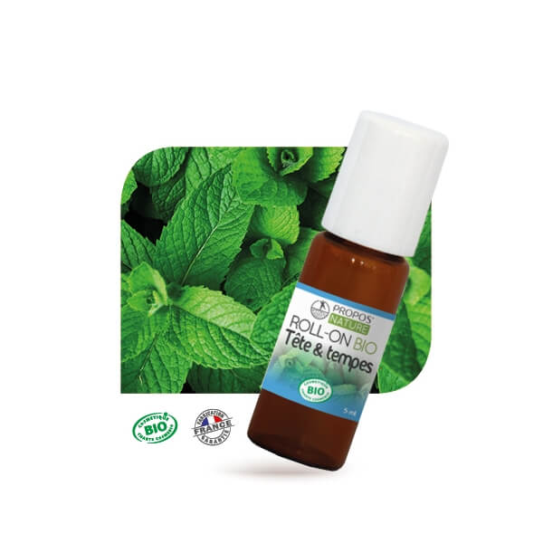 Roll-on BIO - TETE & TEMPES 5 ml
