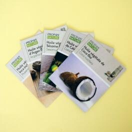 Cartes mémo d'Huiles Végétales à collectionner
