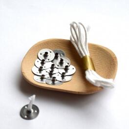 Mèche à bougie + supports métal