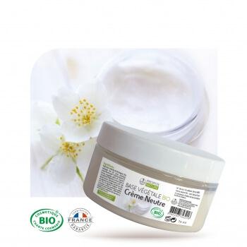 Base végétale BIO - Crème neutre 75 ml