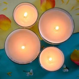 Bougie de Massage aux Fleurs Solaires
