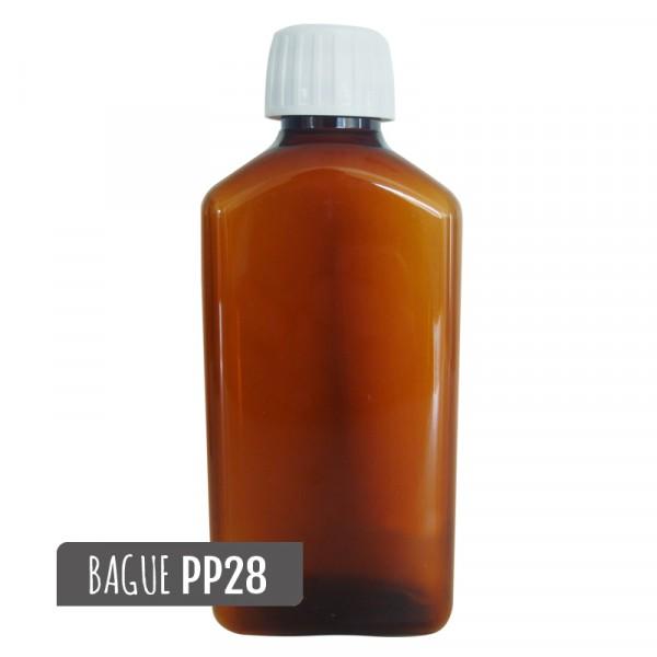 flacon vide en plastique ambré