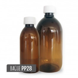 flacon en plastique ambré
