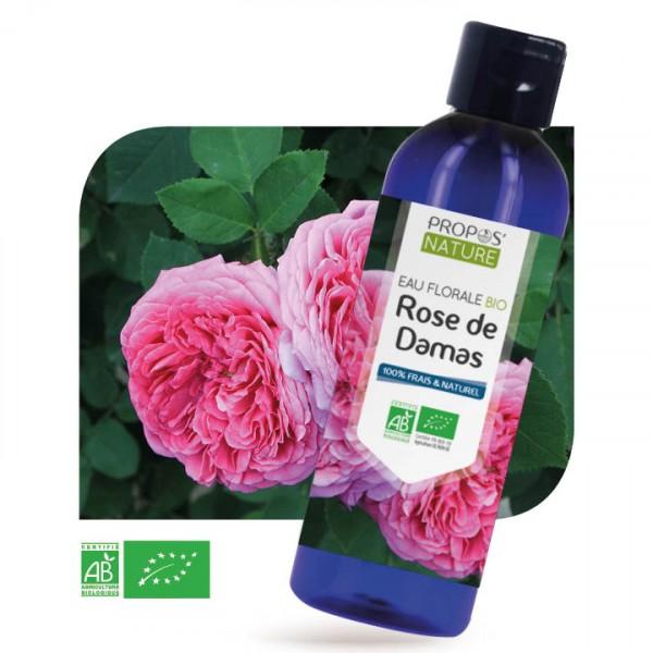 Rose Damas BIO - Eau florale 200 ml