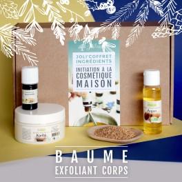 coffret d'ingrédient baume exfoliant