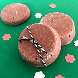 Galet de bain effervescent Chocolat vanillé