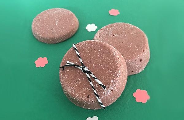 recette Galet de bain effervescent Chocolat vanillé