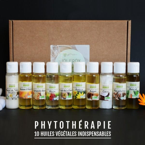 Coffret 10 huiles végétales indispensables