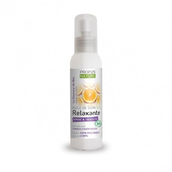 huile de soin relaxante bio