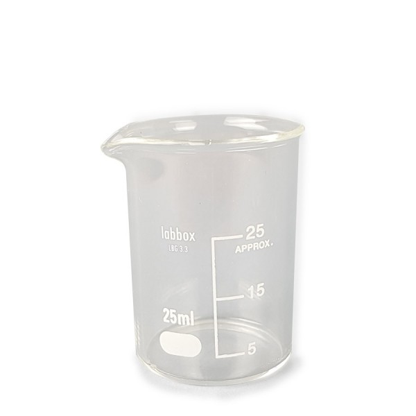 Bécher en verre (25ml / 50ml / 100ml)