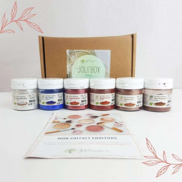 Coffret Couleurs - 6 nacres et pigments naturels