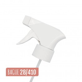 Pompe spray blanche à gâchette
