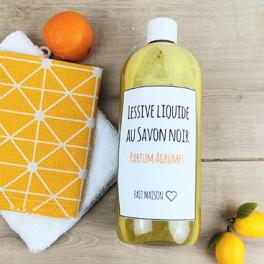 Lessive liquide au savon Noir- Parfum d'agrumes