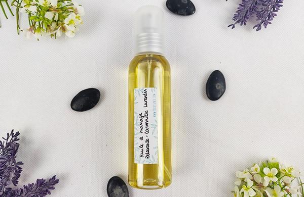 Huile de massage relaxante - Camomille & Lavandin