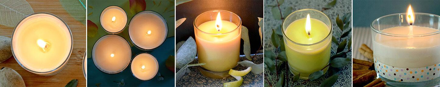 Fabriquez vos bougies naturelles