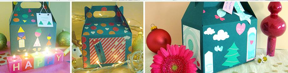 emballage Noel décoré à la main