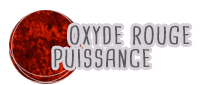 oxyde minéral rouge