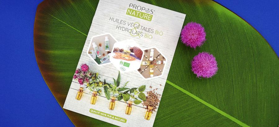 dépliant huiles végétales et hydrolats bio