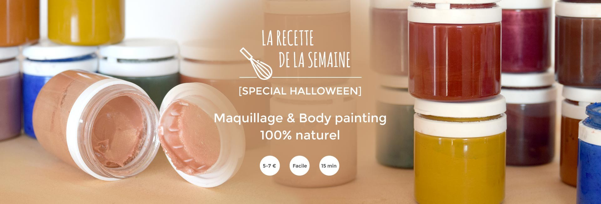 recette : Maquillage & Body painting 100% naturel