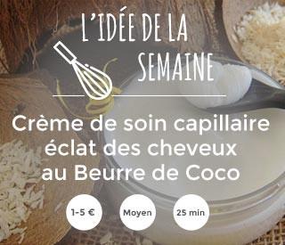 recette : creme de soin capillaire au beurre de coco