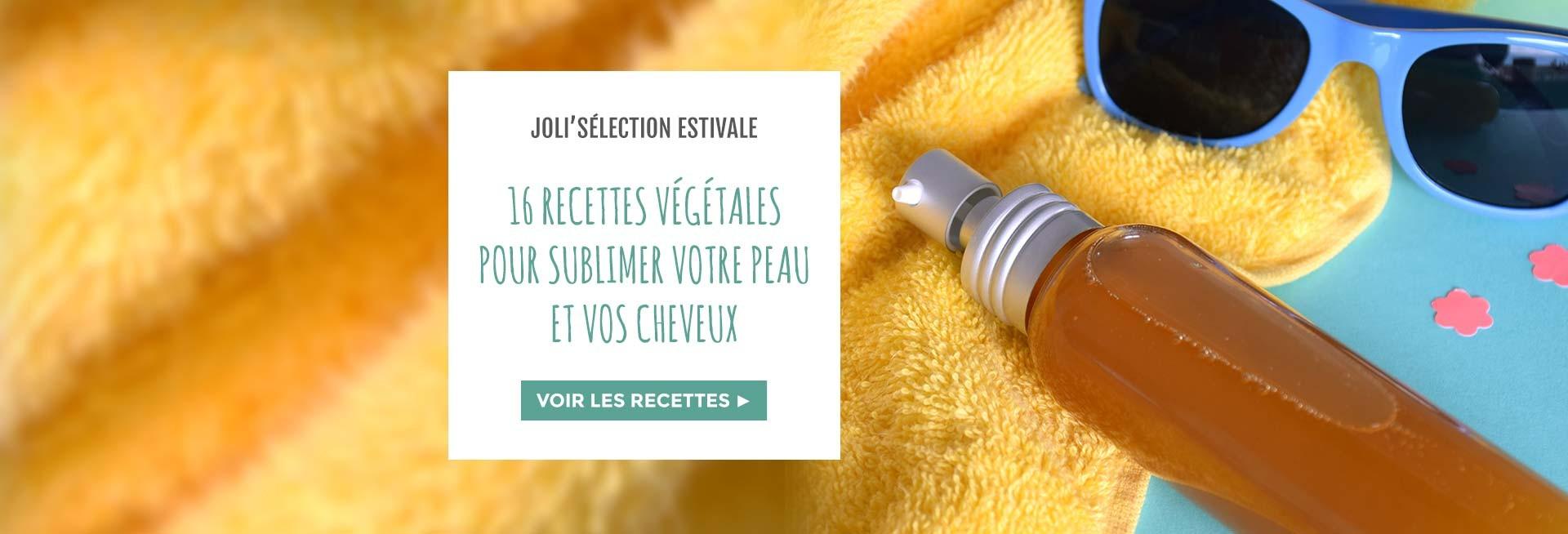 Sélection de recettes cosmétiques estivales