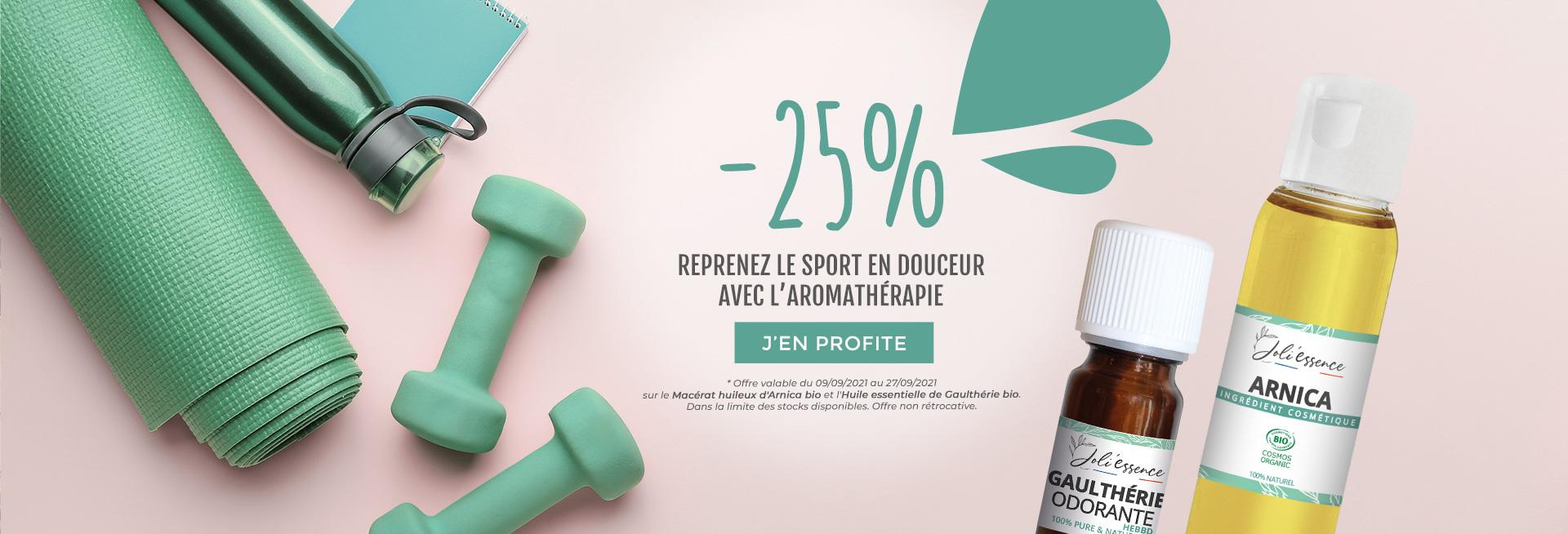 -25% sur de produits aromathérapie