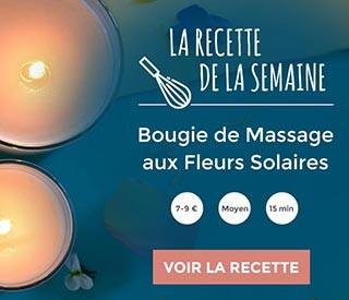 recette : bougie de Massage - Fleurs Solaires