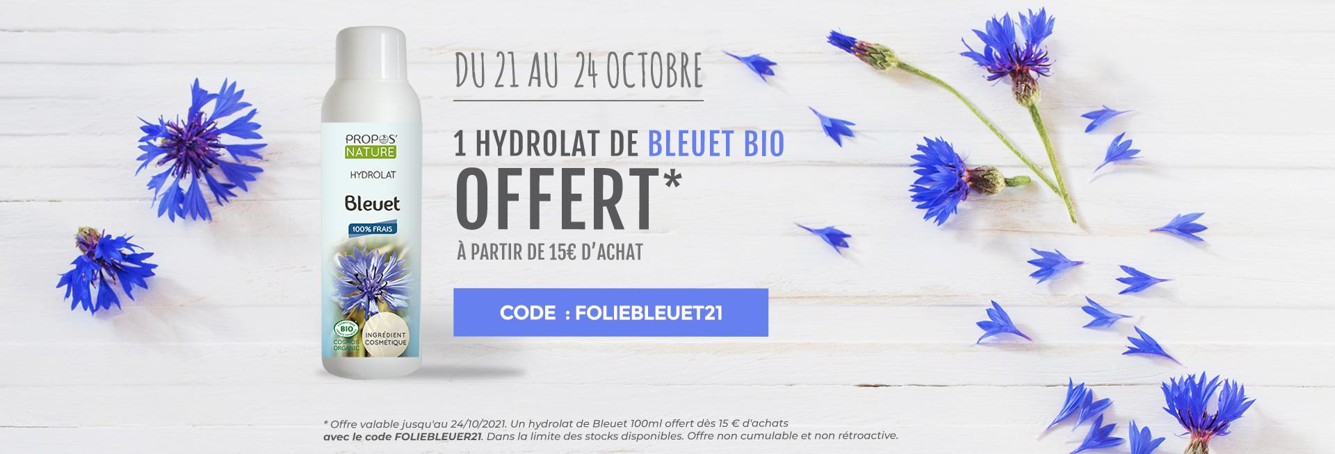 Un hydrolat de bleuet bio OFFERT