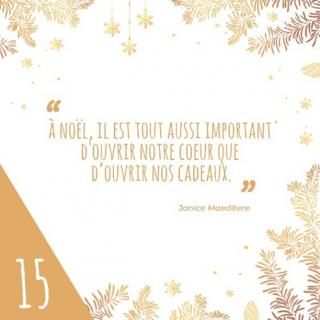 N°15 :quelques joli'mots... #citation #citationdenoel #noel #joliessence #calendrierdelavent2019