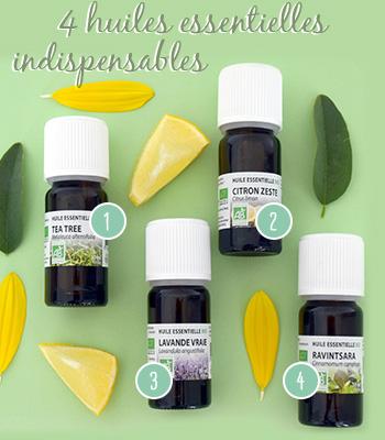 box d'huiles essentielles indispensables en aromathérapie