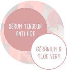 Sérum tenseur Anti-âge - Géranium et Aloe vera