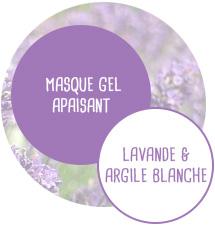 Masque gel Apaisant - Lavande et Argile blanche