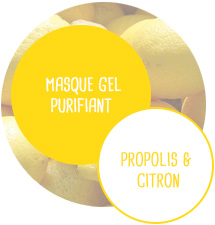 Masque gel Purifiant - Propolis et Citron